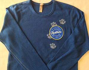 Adult LS Thermo Pawprint Shirt - Blue